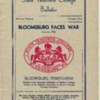 Bloomsburg Faces War