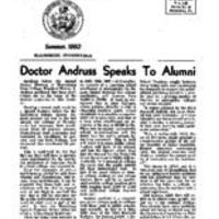 1960 Summer Letter to Graduates