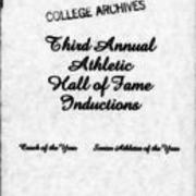 1983, Edinboro University Third Annual Athletic Hall of Fame Inductions