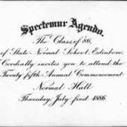 1886, Edinboro University Commencement