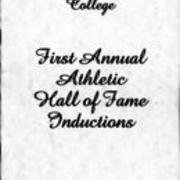 1982, Edinboro State College-First Annual Athletic Hall of Fame inductions