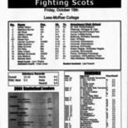 2001, Edinboro Volleyball vs.Lees-McRae