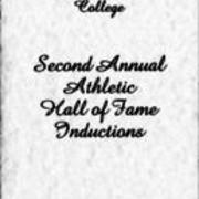 1983, Edinboro State College Second Annual Athletic Hall of Fame Inductions
