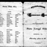 1873, Edinboro University Commencement