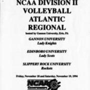 1994, NCAA DIVISION II VOLLEYBALL ATLANTIC REGIONAL