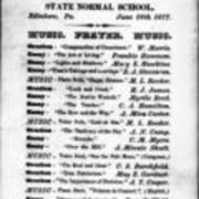 1877, Edinboro University Commencement