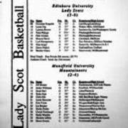 1994-1995, Edinboro Women's Basketball vs. Mansfield
