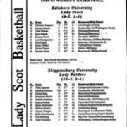 1994-1995, Edinboro Women's Basketball vs. Shippensburg