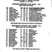 1991, Edinboro Women's Basketball vs. Mercyhurst