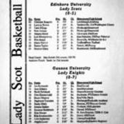 1994-1995, Edinboro Women's Basketball vs. Gannon