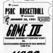 1991, PSAC Basketball Game IV - Edinboro vs. Shippensburg