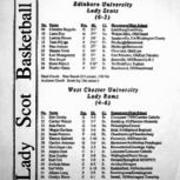 1994-1995, Women's Basketball vs. West Chester