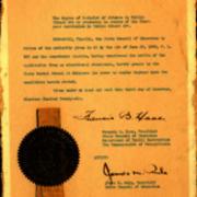 Pennsylvania Department of Public Instruction Certificate to Confer BS in Public School Art, 1926
