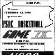 1991, PSAC Basketball Game IX - Edinboro vs. Slippery Rock