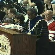 Fred Rogers at Commencement, 1998