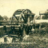 #1032 Old Water Wheel on Branch