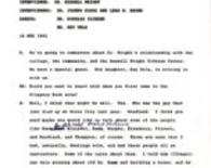 Wright, Russell Interview Transcript