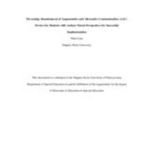 Preventing Abandonment of Augmentative and Alternative Communication (AAC) Devices for Students with Autism: Parent Perspectives for Successful Implementation